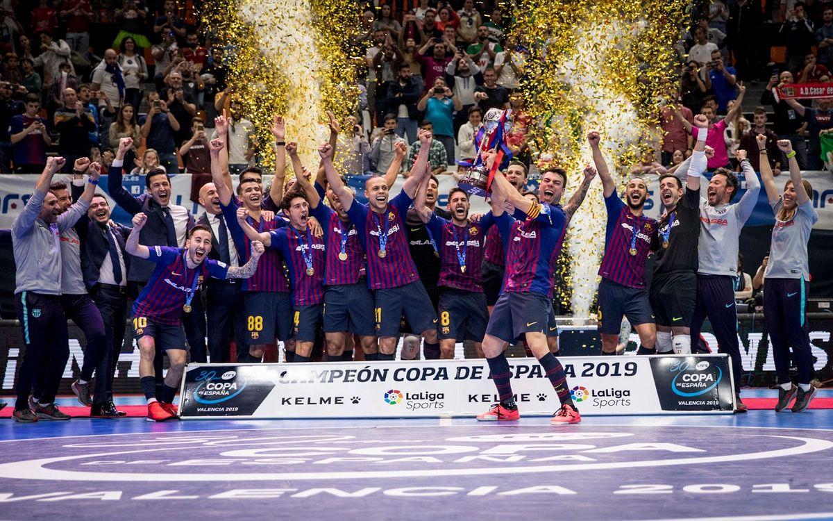El Barça defiende el título y buscará su quinta Copa en Málaga