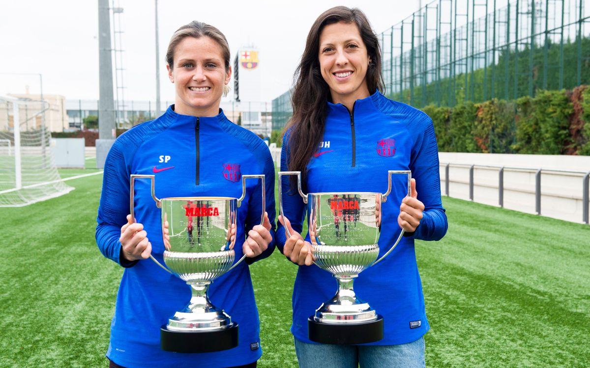 Paños y Jenni Hermoso reciben sus premios 2018/19