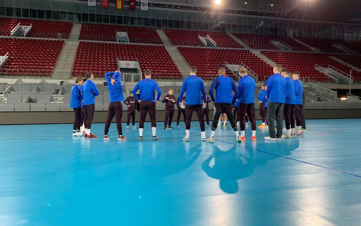 El Barça testeja la Caja Mágica