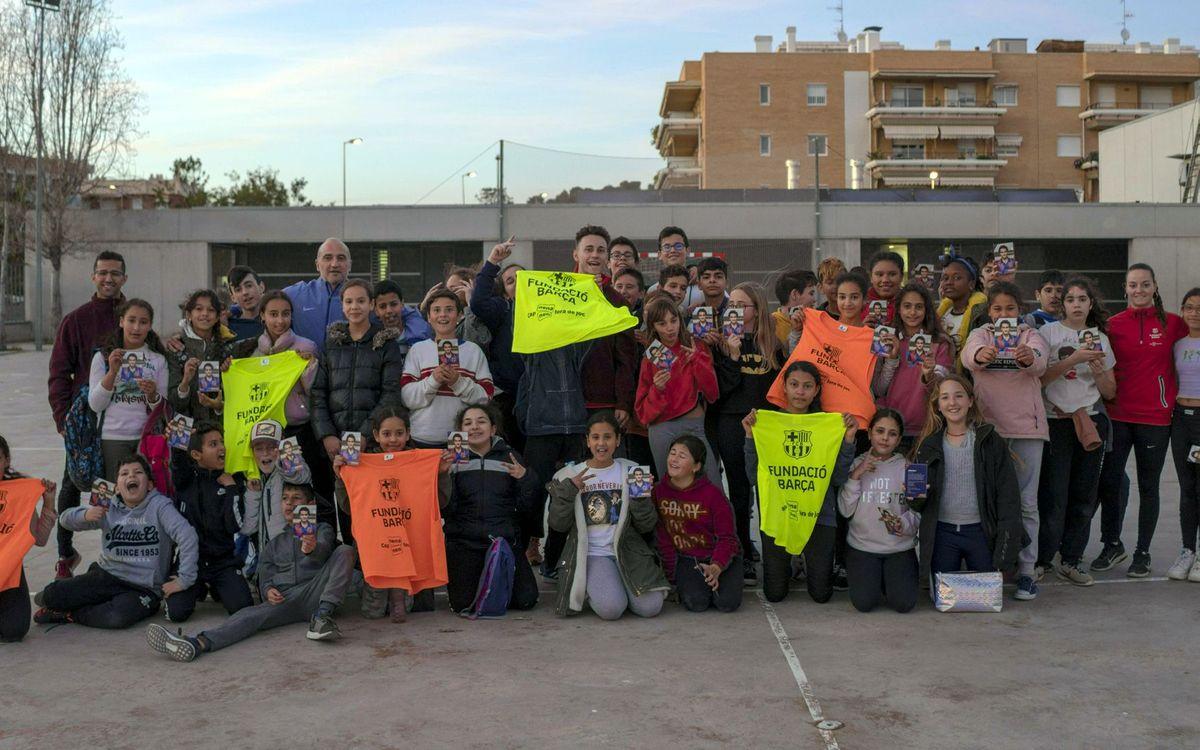 L'Institut Ernest Lluch de Cunit acull les sessions de FutbolNet una vegada a la setmana durant tot el curs (Pedro Valero / ABJ)