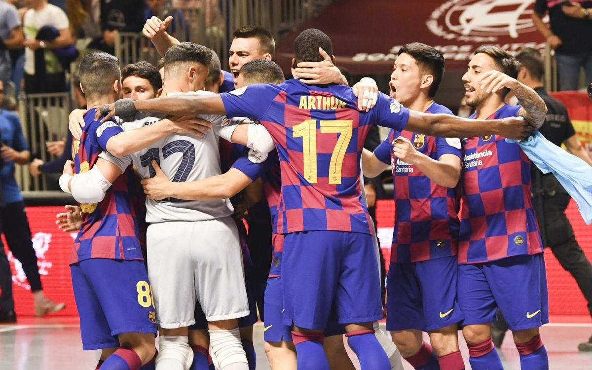 Barça 3-2 ElPozo: To the final!