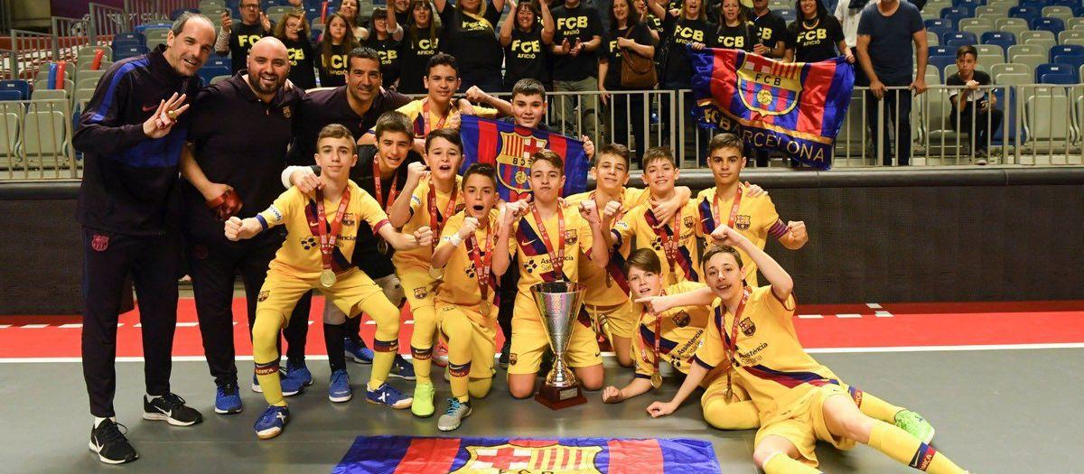 Campeones de la Minicopa de fútbol sala (7-0)