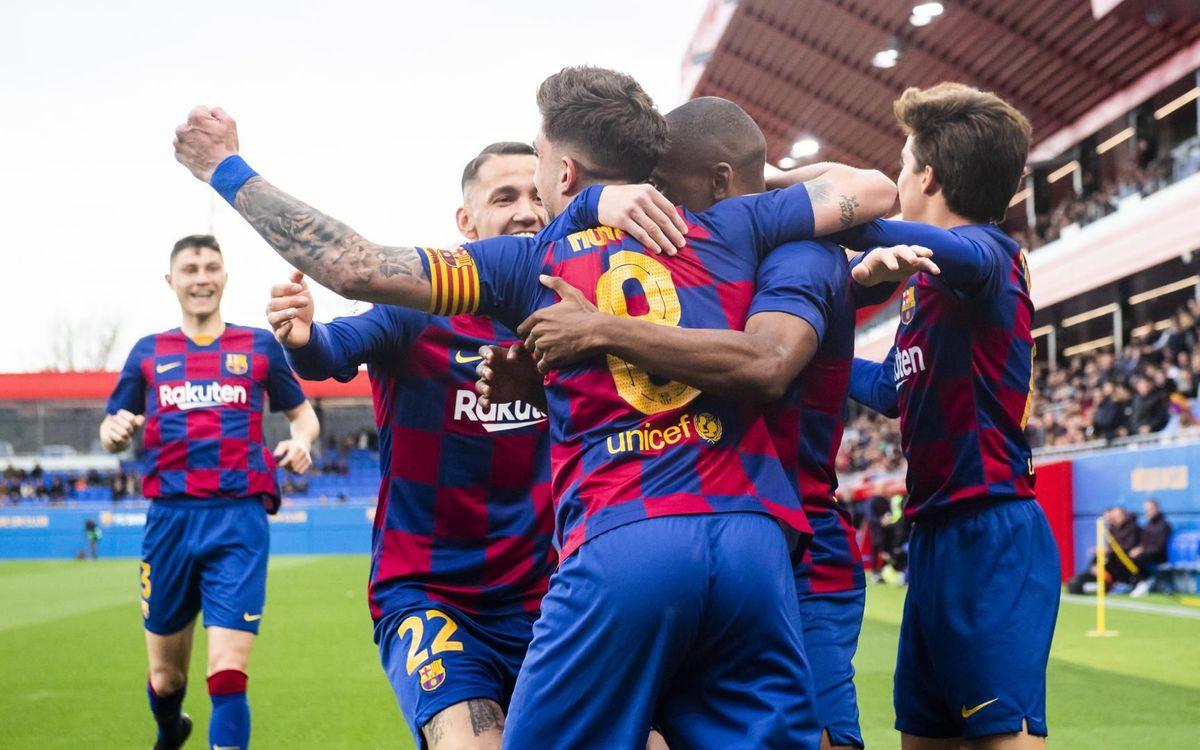 El Barça B se sitúa segundo a diez jornadas para el final
