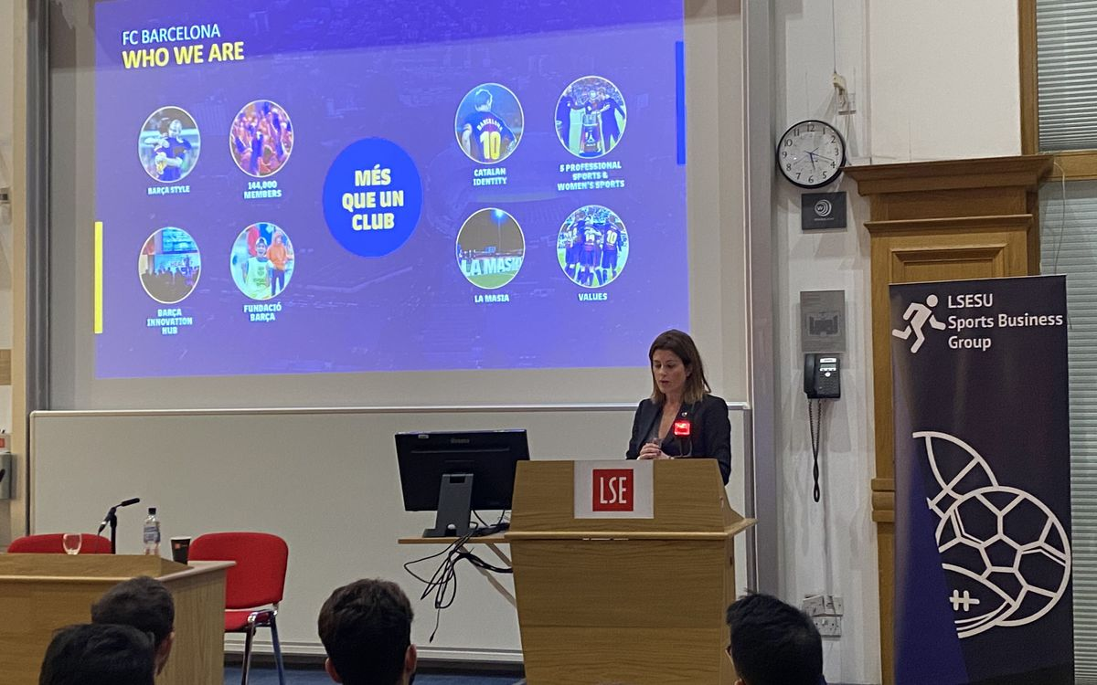 Marta Plana explica el Barça Innovation Hub en la London School of Economics