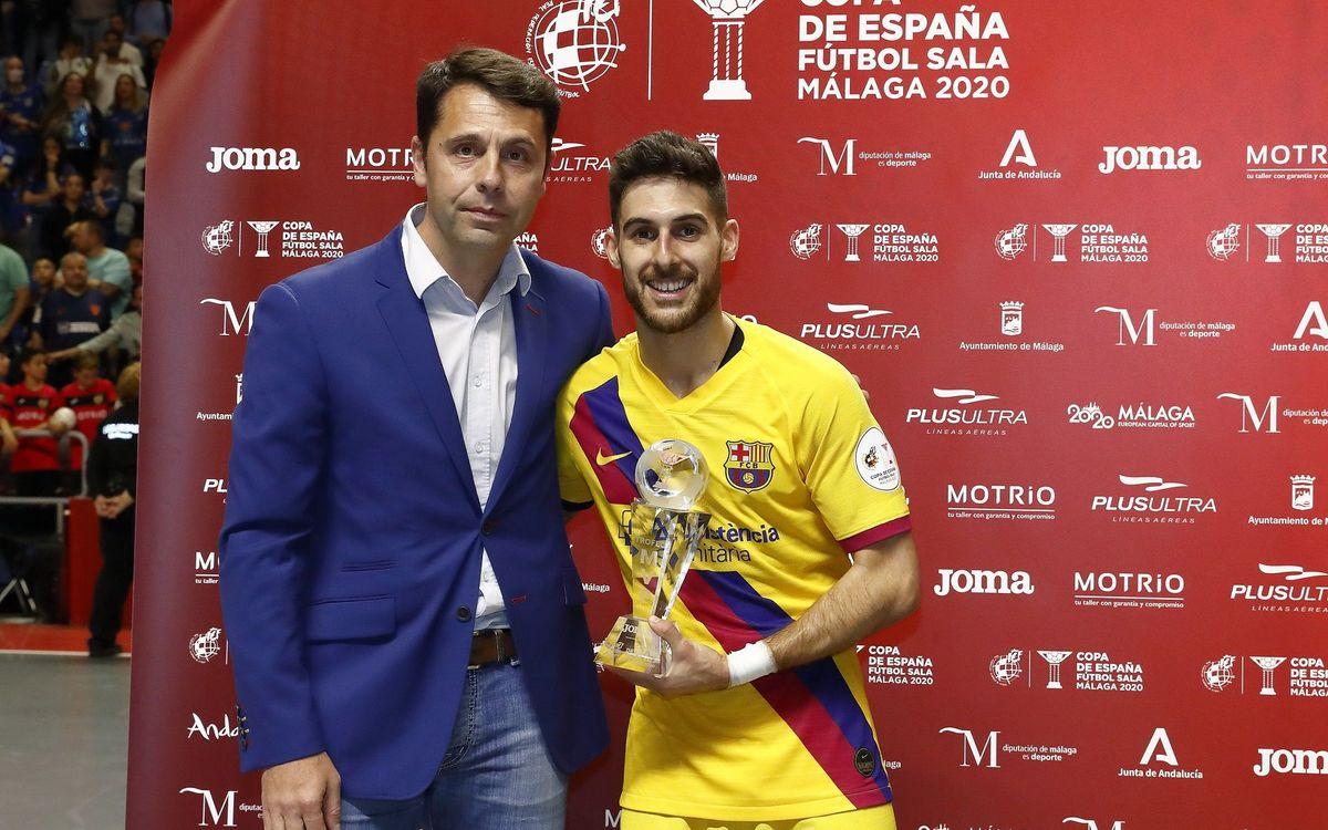 Adolfo, MVP de la Copa