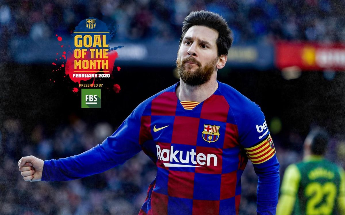 Messi against Eibar, Goal of the Month for February
