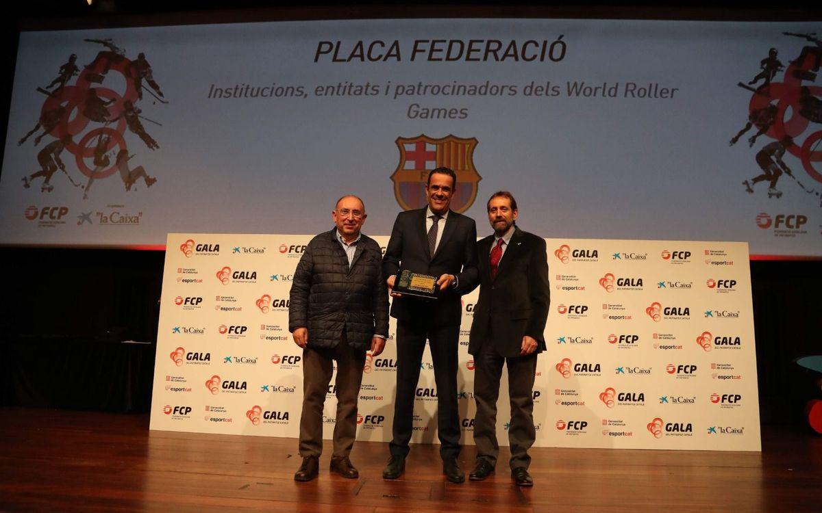 El Barça, galardonado en la Gala de la Federación Catalana de Patinaje