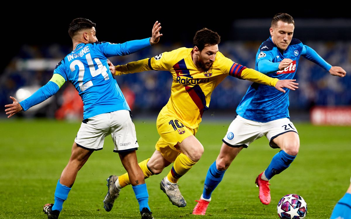The Champions League and FC Barcelona v Napoli postponed announces UEFA