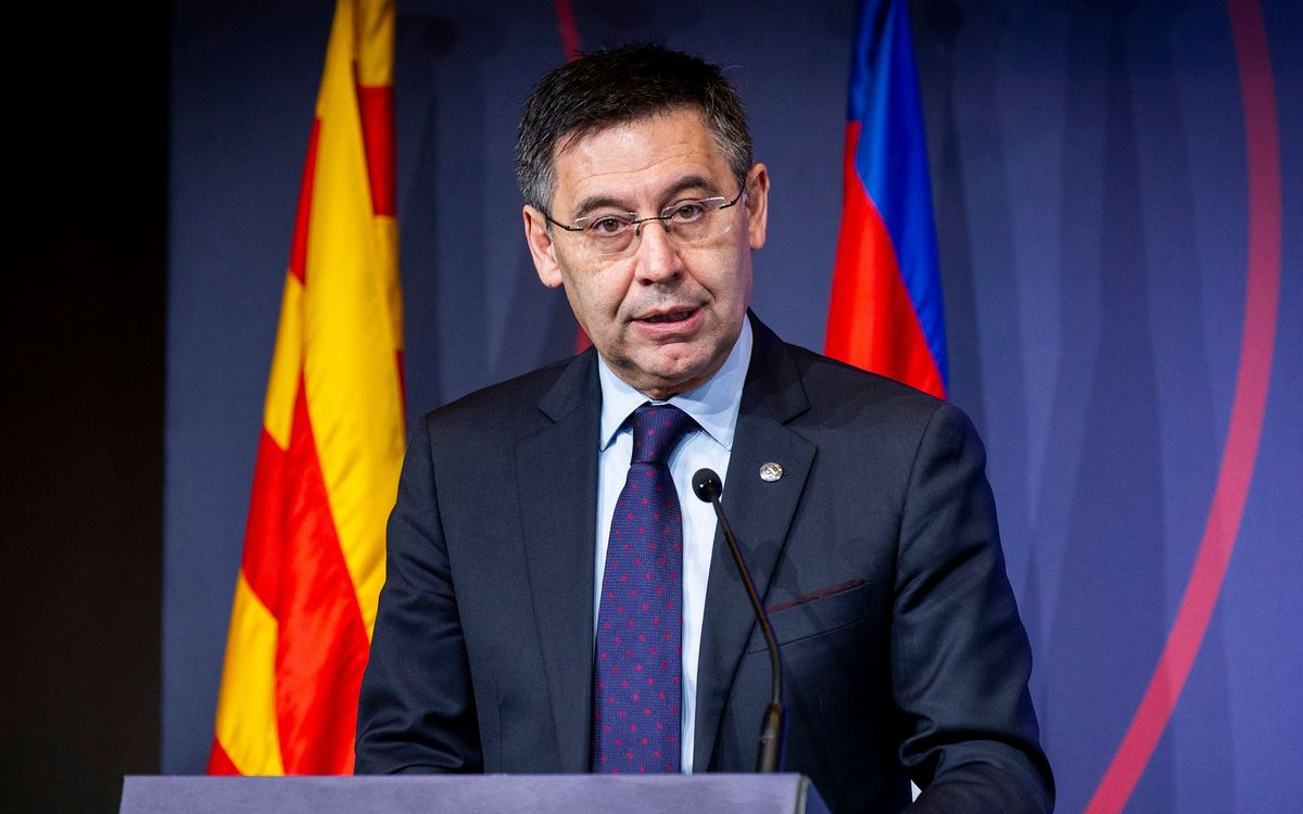 Open letter from Josep Maria Bartomeu: 'Today, more than ever, as one with the people'