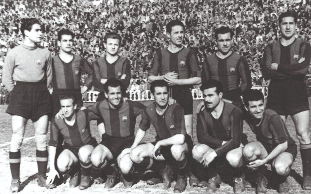 Onze del Barça l'any 1950.