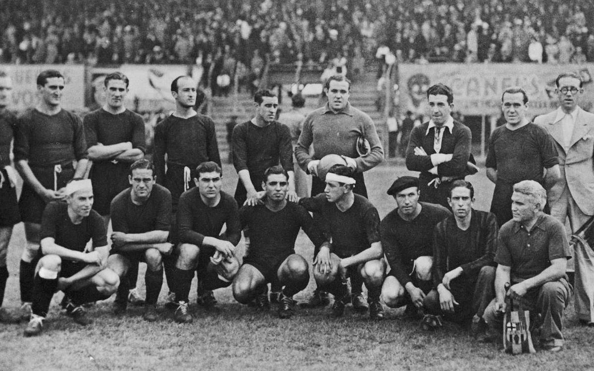 L'equip blaugrana durant la Gira Americana del 1937 (Arxiu)