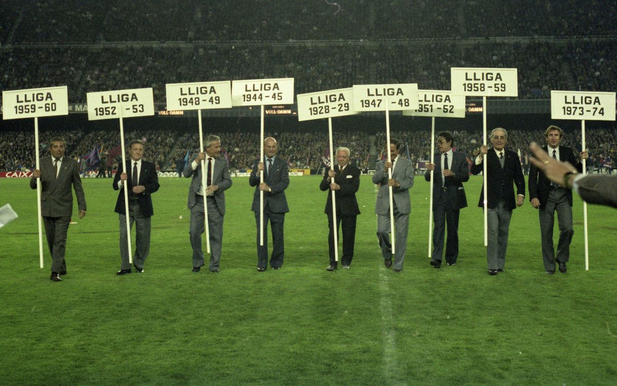 CELEBRACIÓ LLIGA 1985 (BARÇA-SPORTING 30-3-1985) - 2