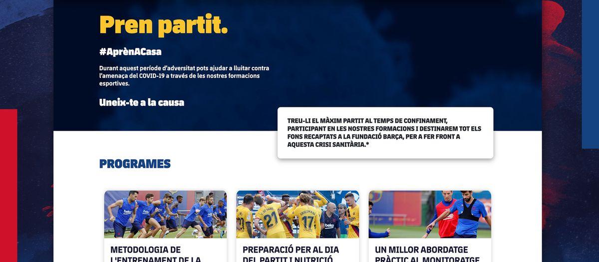 El Barça Innovation Hub posa en marxa cursos online per recaptar fons per a la lluita contra el Covid-19