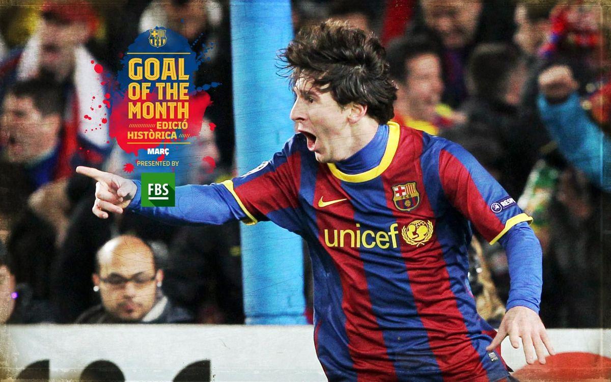 El gol de Messi contra l'Arsenal, escollit 'Goal of the Month' històric del mes de març