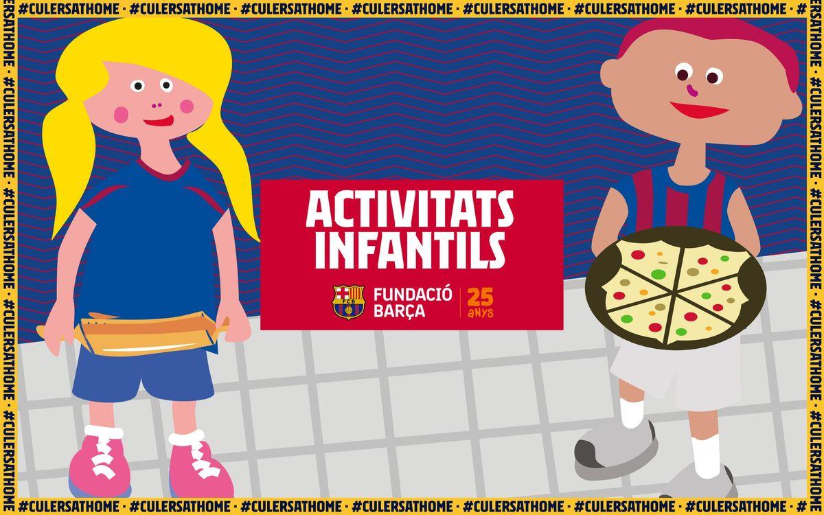 Activitats per a nens i nenes: Pizza Barça