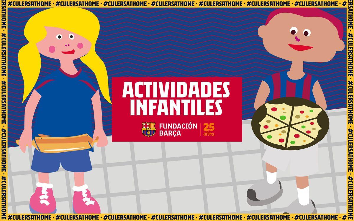Actividades para niños y niñas: Pizza Barça