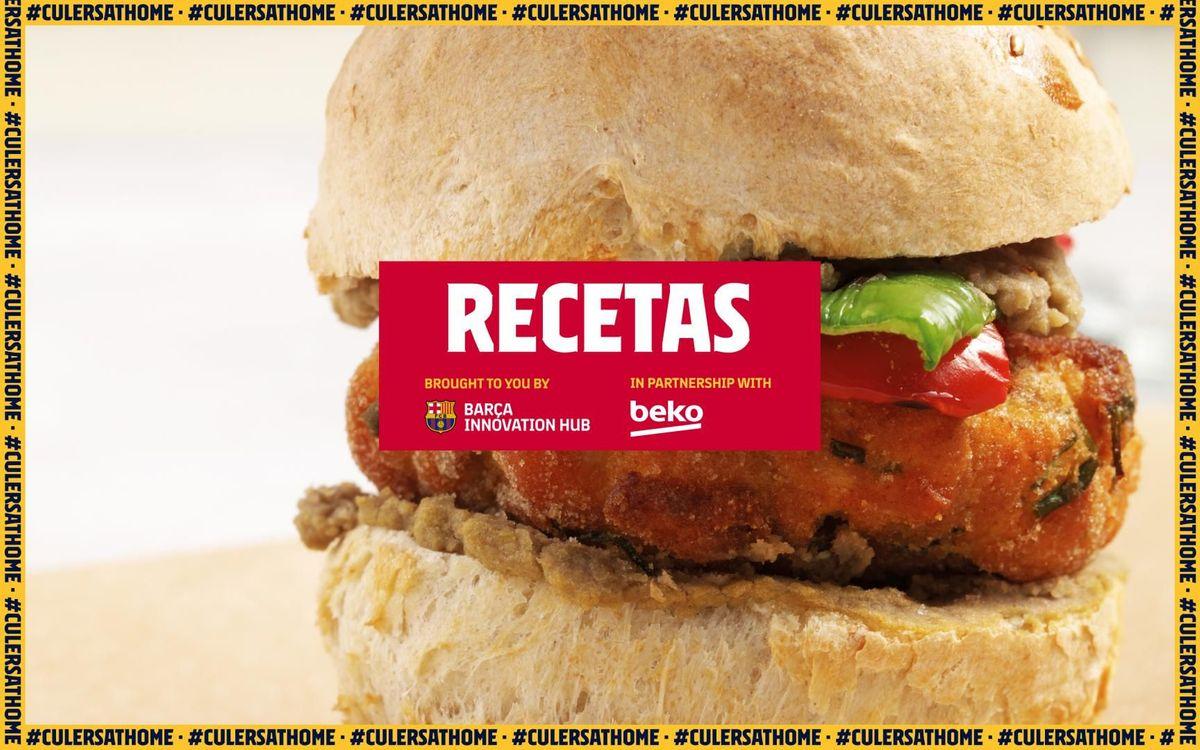 La receta favorita de Arthur: Mini hamburguesas de salmón con hummus de lentejas