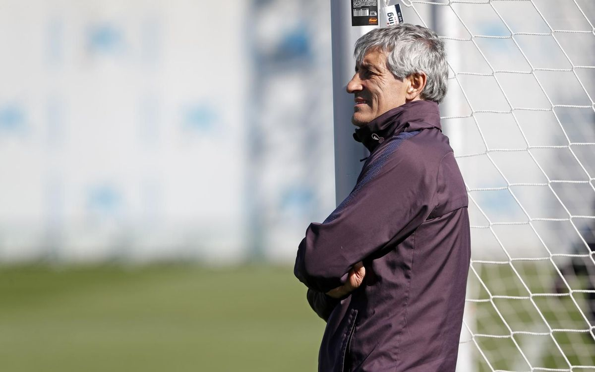 Quique Setién wants to win league title on the pitch