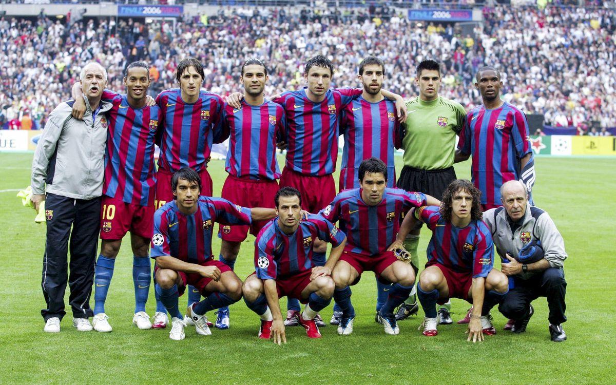 Le XI titulaire du Barça face à Arsenal lors de la finale de la Ligue des Champions 2006