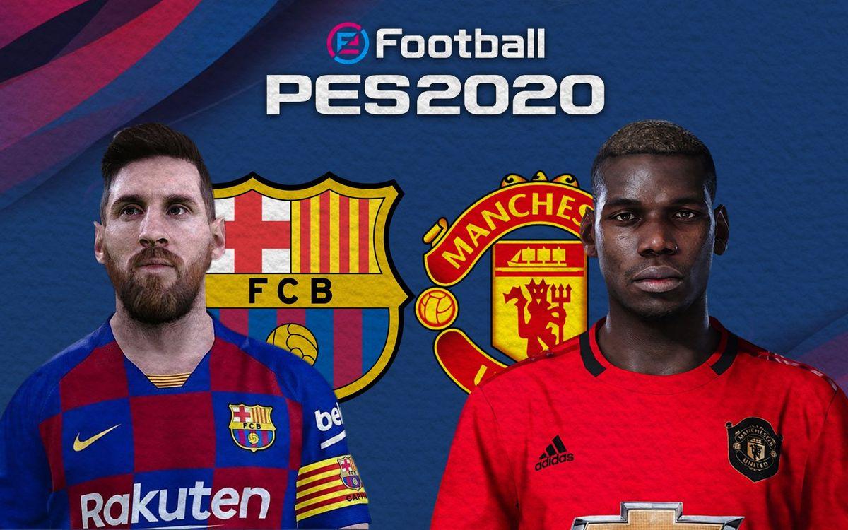 Un Barça-Manchester United vibrant sur PES2020