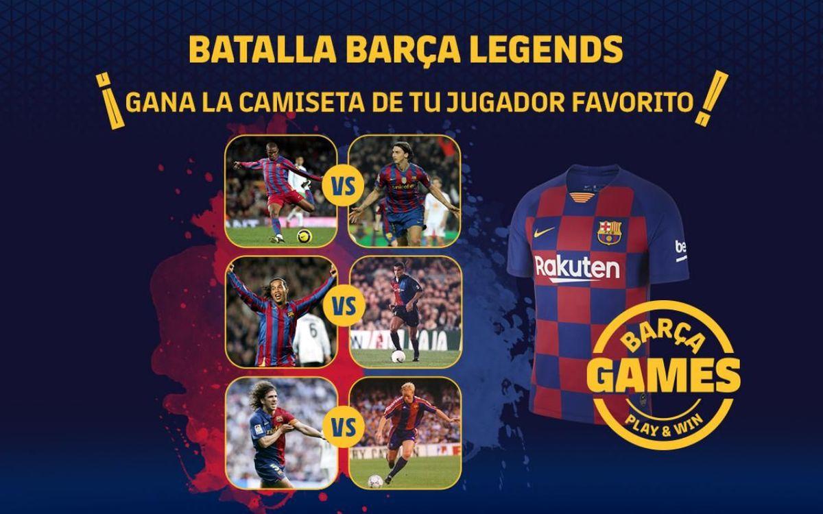 ¡Duelo entre Barça Legends!