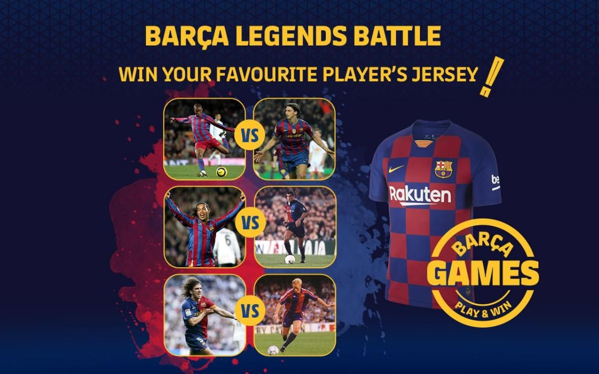 The battle of the Barça Legends!