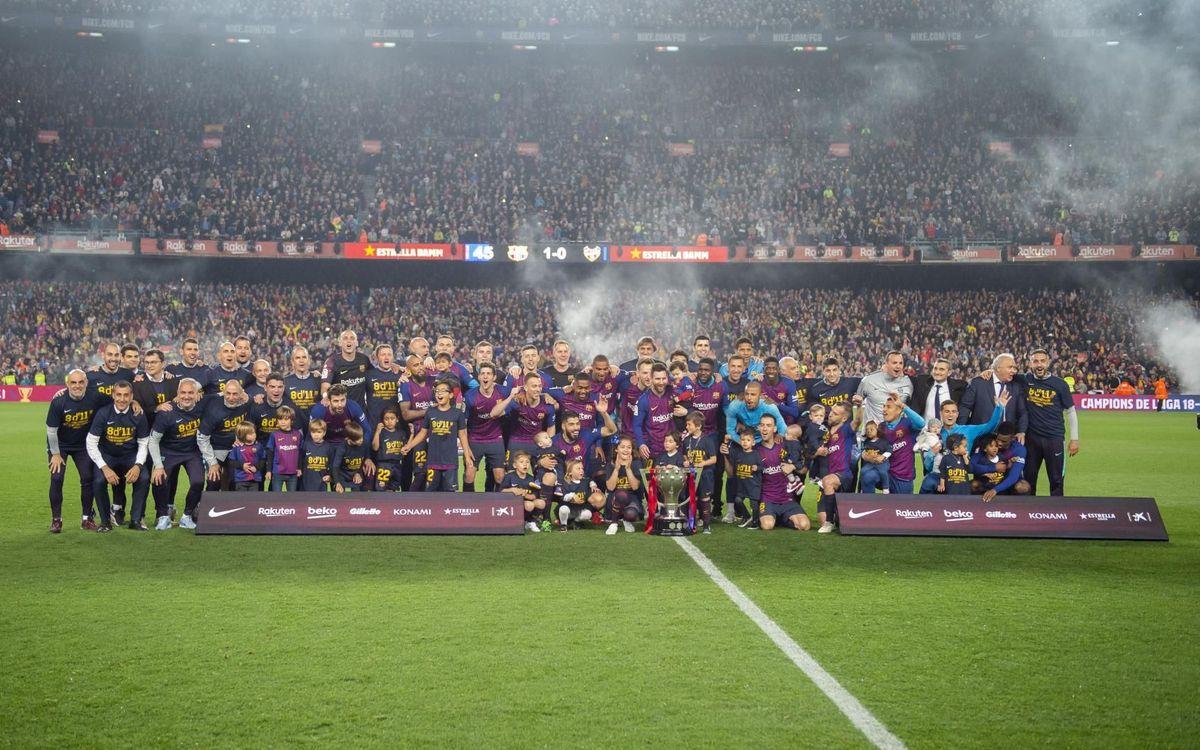 Un año del título de Liga en el Camp Nou
