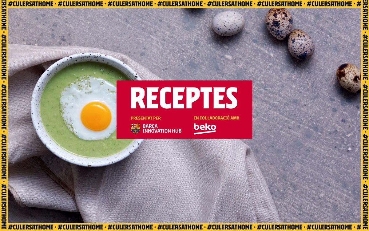 La recepta preferida de Samuel Umtiti: Sopa freda de pèsols, bròquil i carbassó