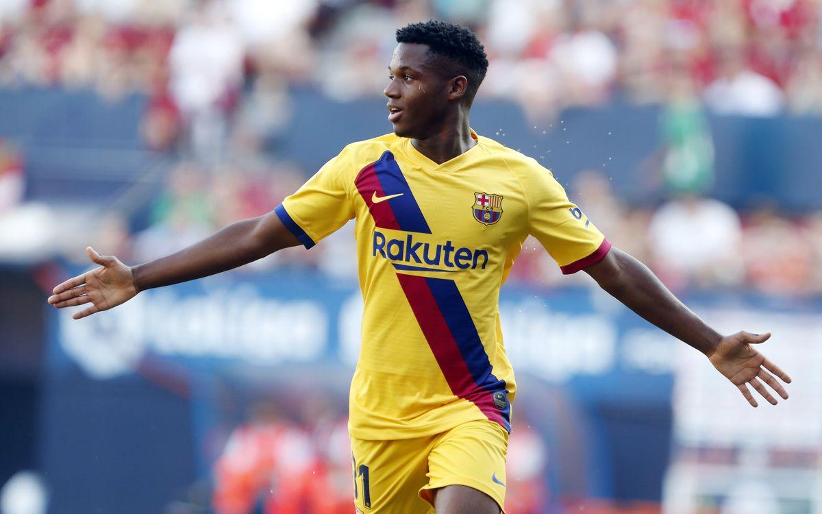 Los goles de Ansu Fati durante la temporada de su debut