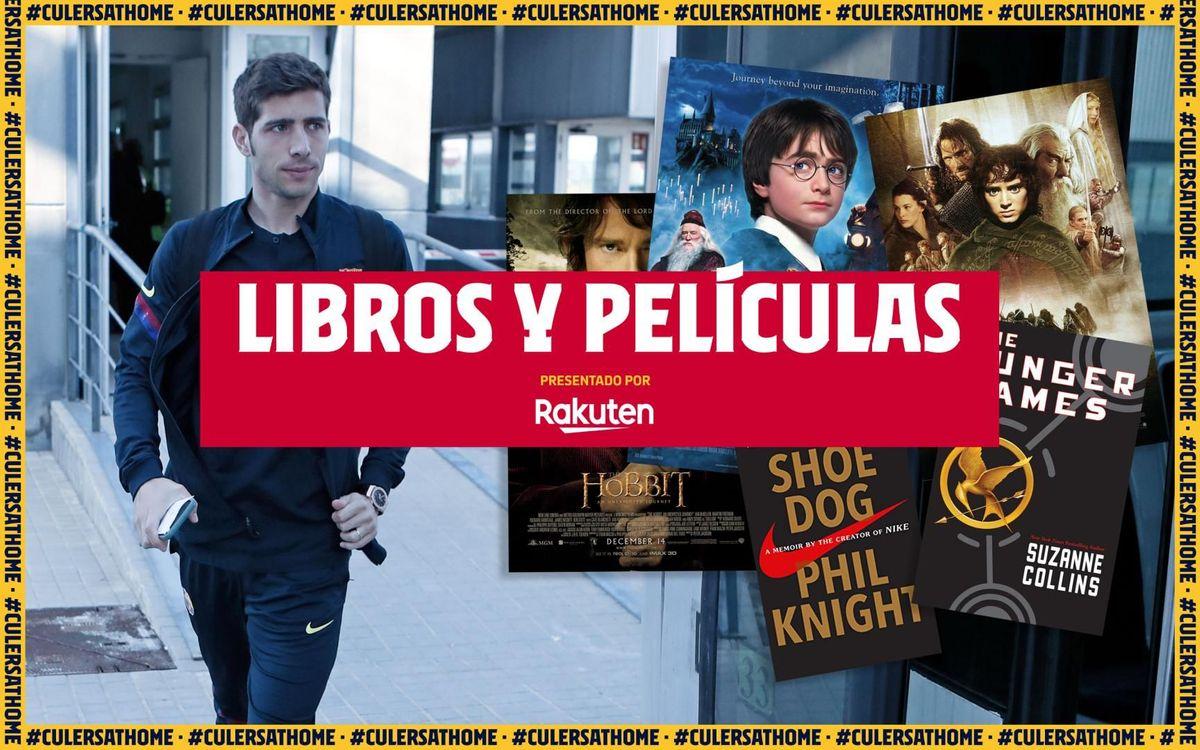 La recomendación de Sergi Roberto: 'Los juegos del hambre', 'Nunca te pares' y las sagas de 'Harry Potter', 'El Hobbit' y 'El Señor de los Anillos'