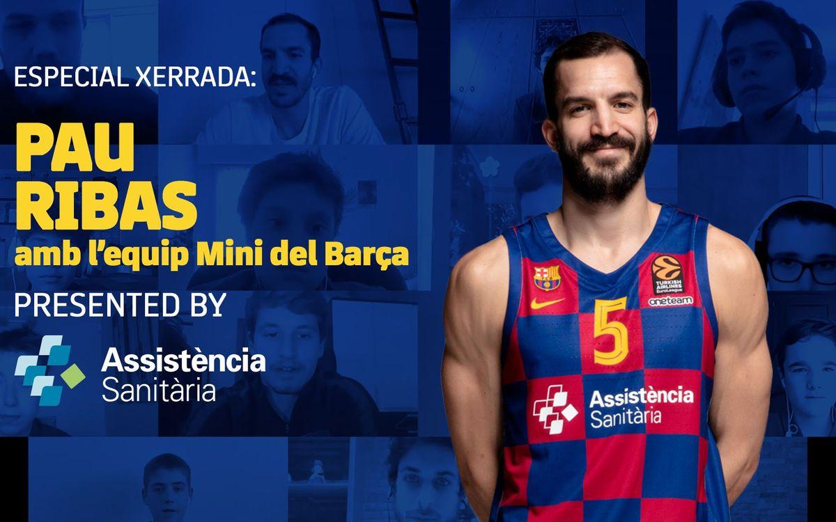Els consells de Pau Ribas a l'equip Mini del Barça