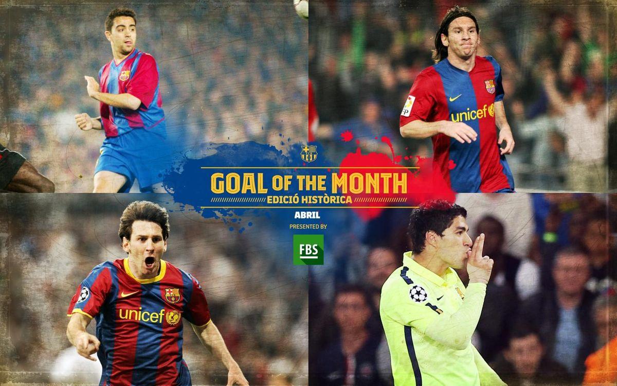 Quin ha estat el millor gol històric del mes d'abril?
