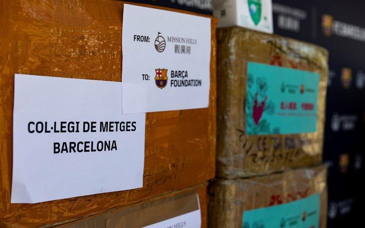 El Barça Experience de Haikou y el grupo Mission Hills colaboran con la Fundació Barça para donar 50.000 mascarillas de uso médico