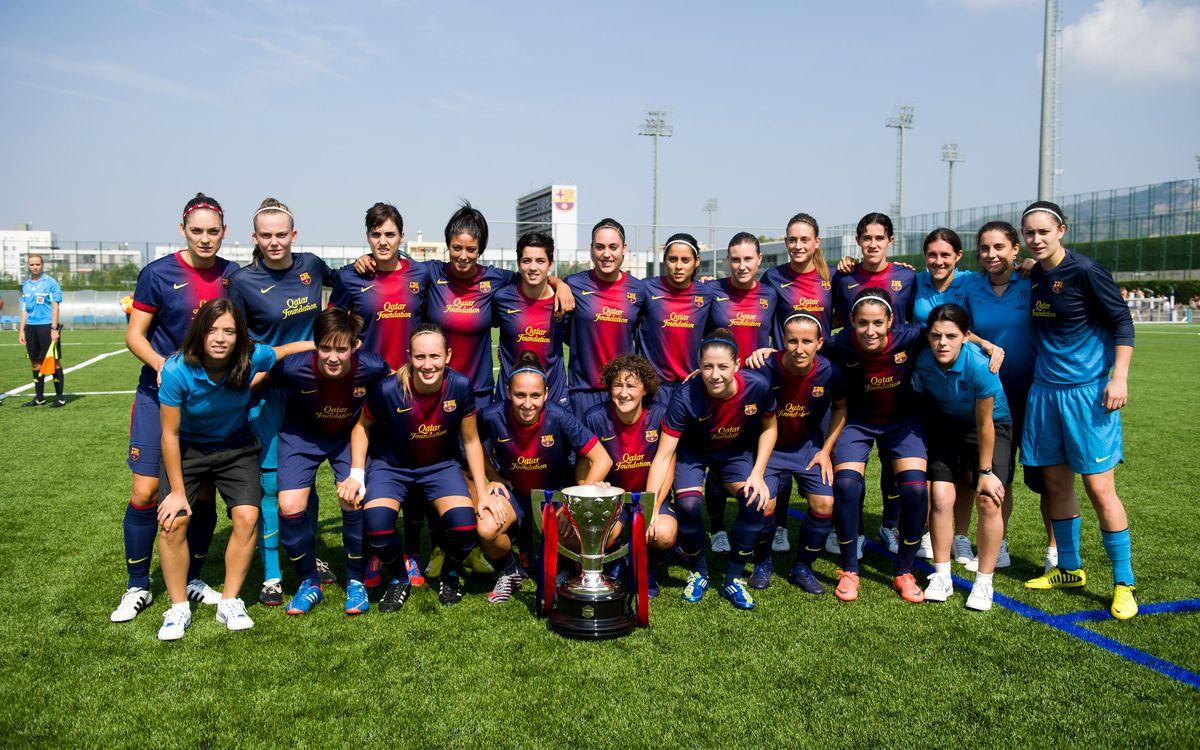 El FC Barcelona es va proclamar campió a la última jornada. Álex Caparrós/FCB