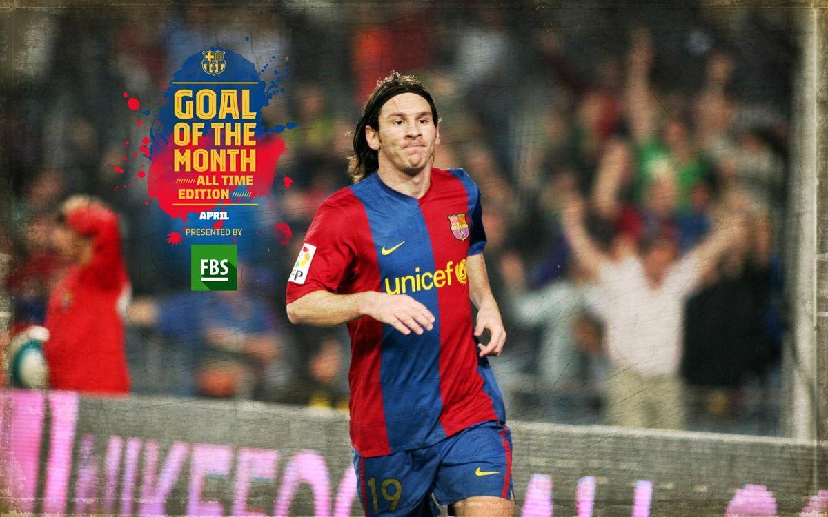 Messi v Getafe voted all-time best goal in April
