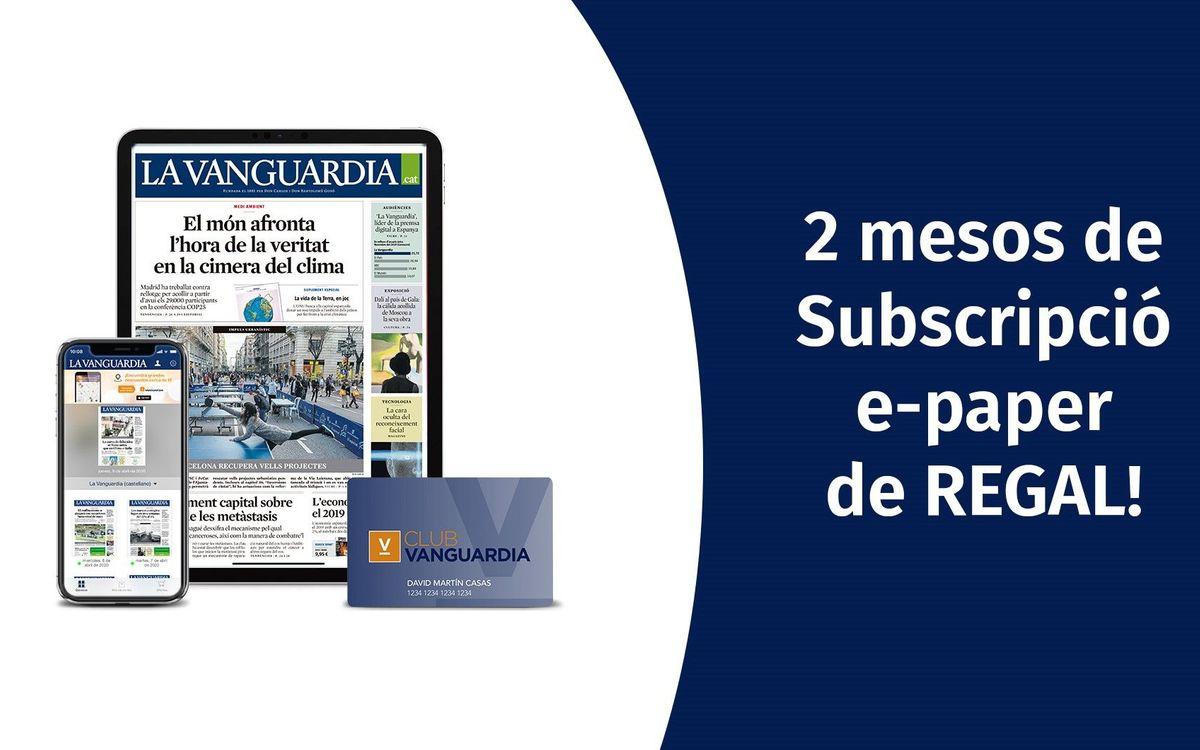 El Barça regala als socis 2 mesos de Subscripció e-paper a 'La Vanguardia'