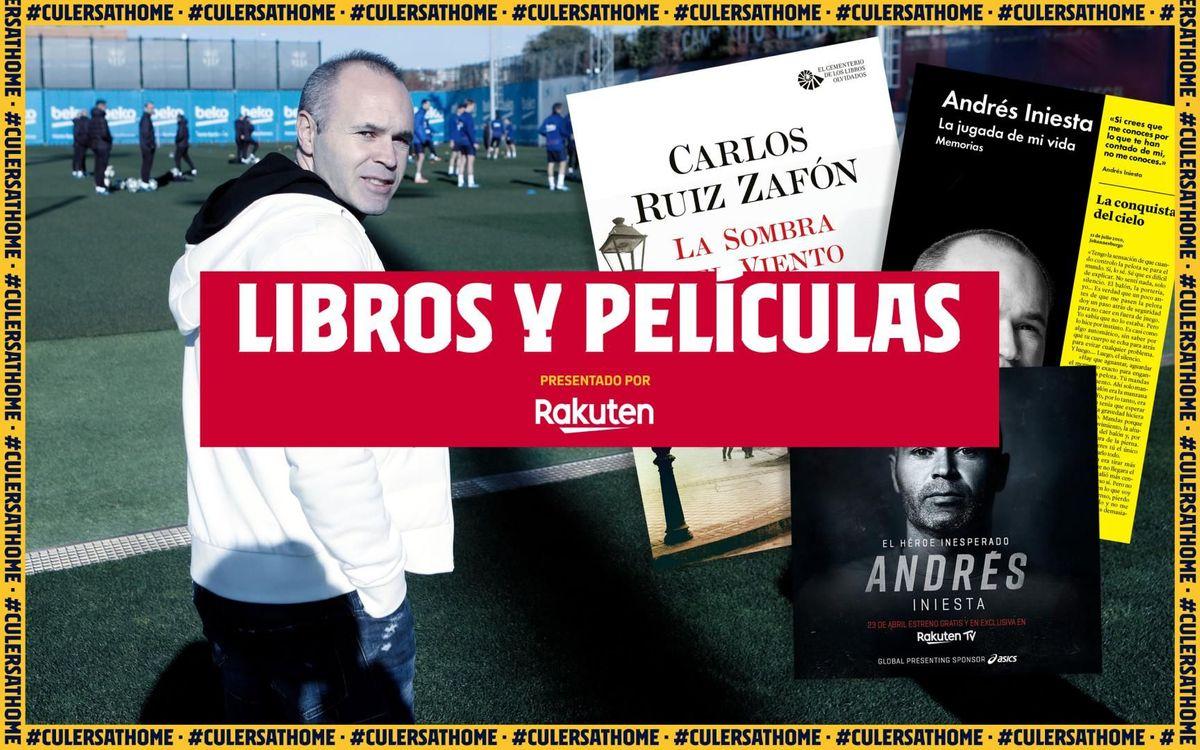 La recomendación de Iniesta: 'Un héroe inesperado', 'La jugada de mi vida' y 'La sombra del viento'