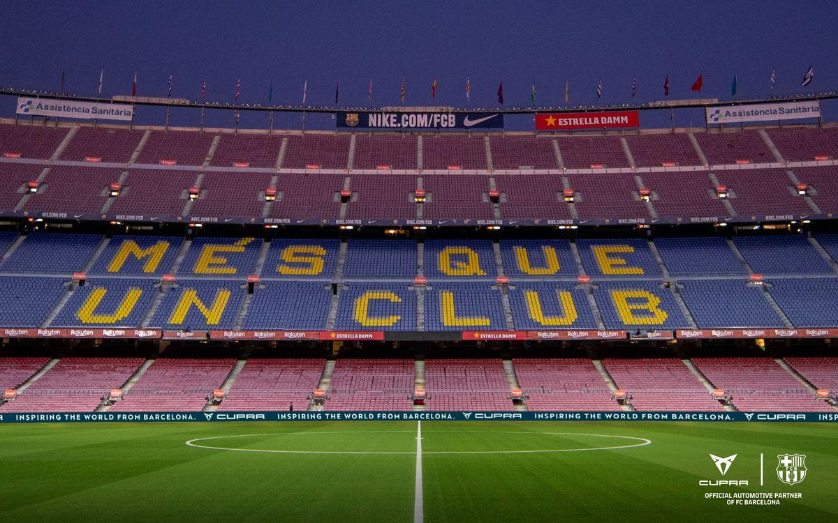 'Aquest partit el guanyem junts', una iniciativa per animar els jugadors quan es torni a jugar al Camp Nou