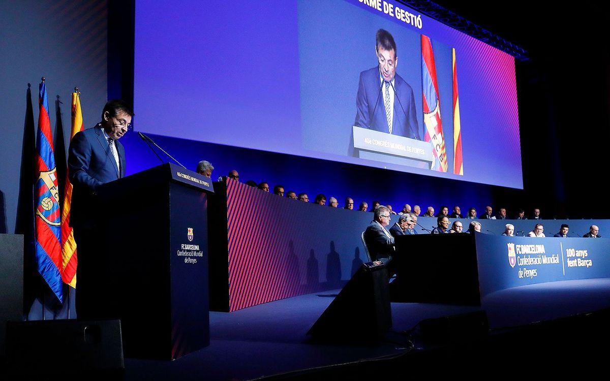 La Confederación anuncia la celebración del 41 Congreso Mundial de Peñas del Barça