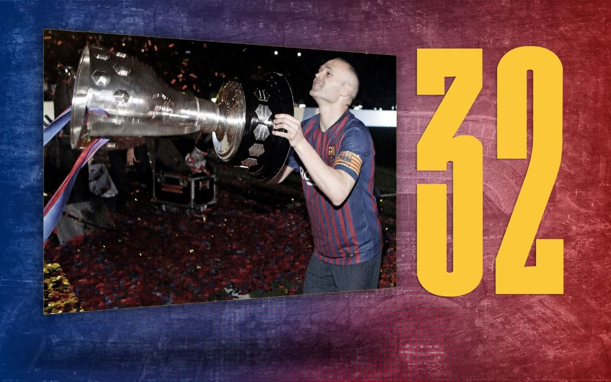 Stat of the day | 32: Andrés Iniesta's titles at Barça