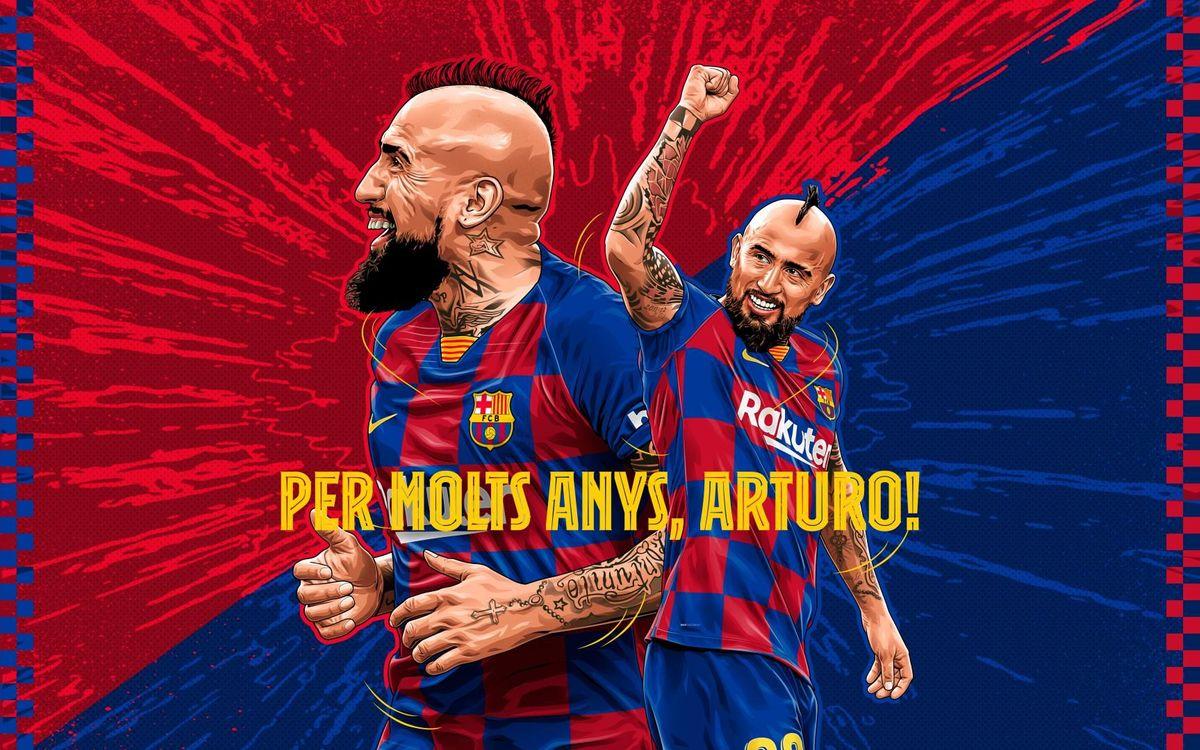 Aniversari de Vidal i ens preguntem... quin és el seu millor gol?