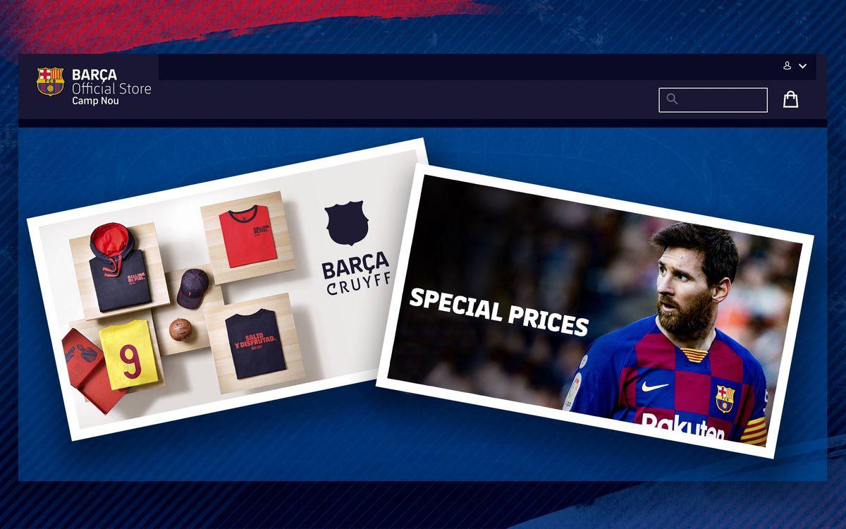 Le FC Barcelone rend disponible dans toute l'Europe sa plateforme d'e-commerce officielle de produits du Barça Store du Camp Nou