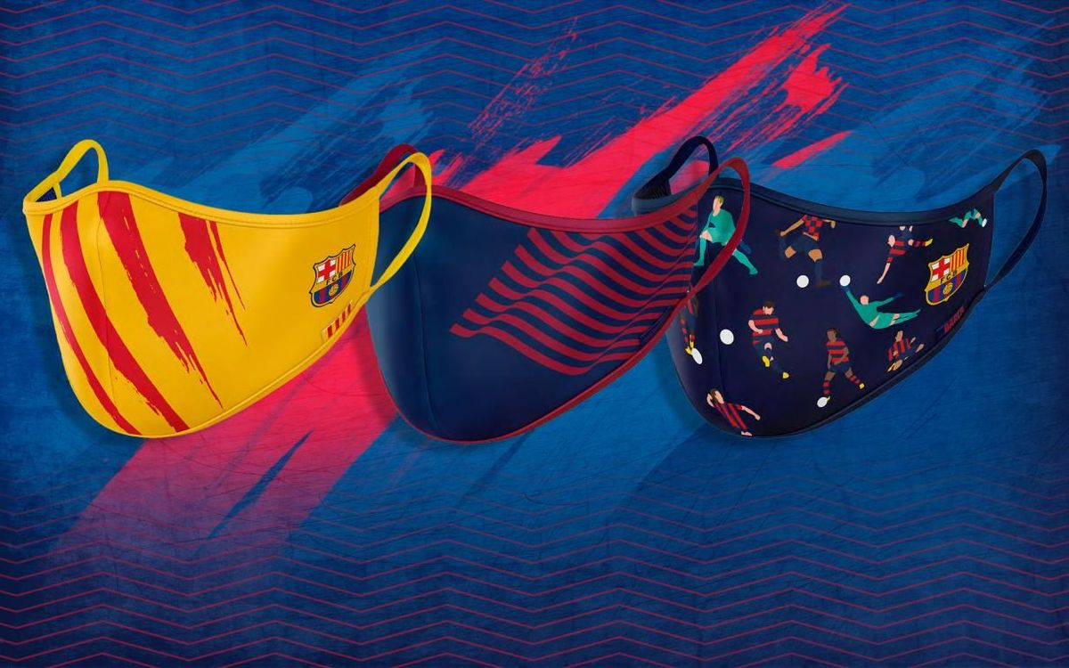 Barça launch the sale of their own protective masks, locally produced and with three exclusive designs