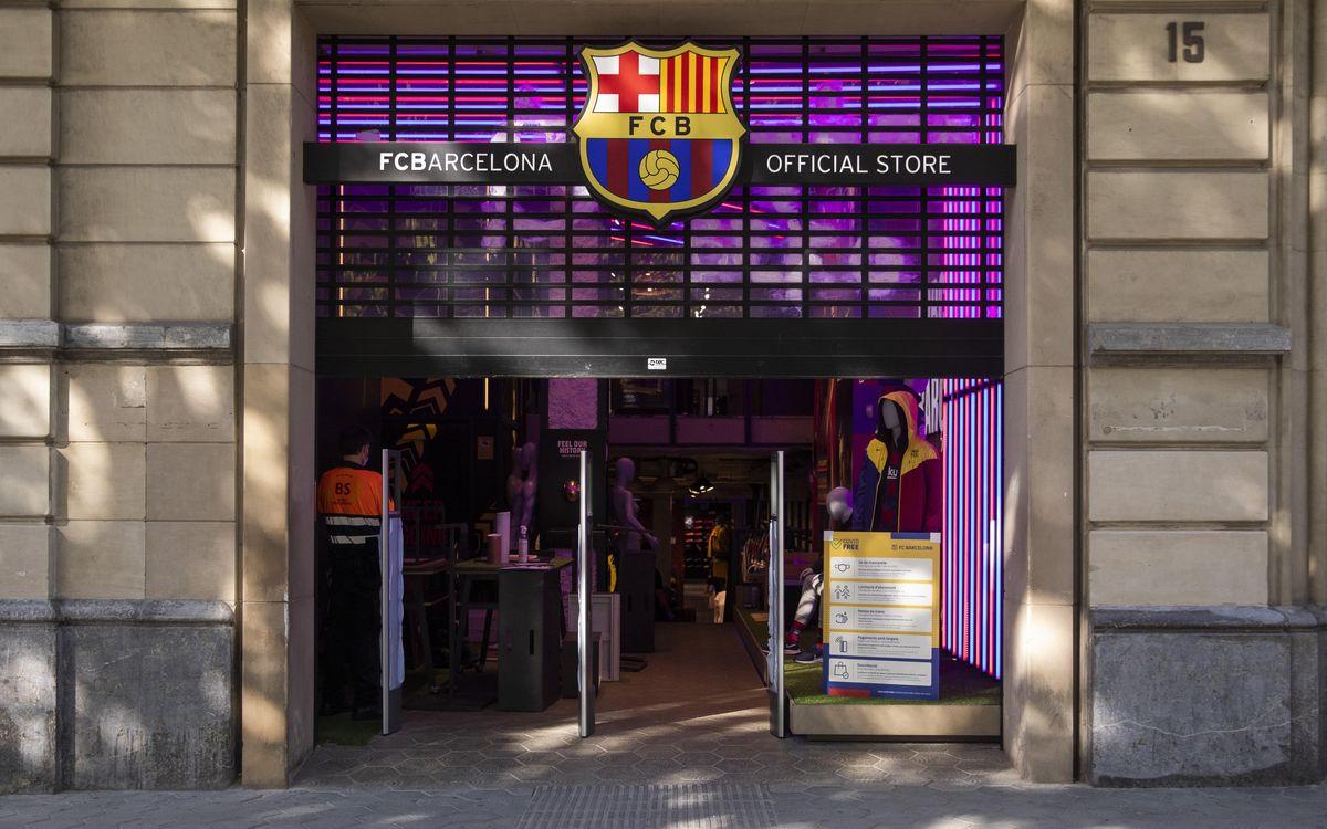 El FC Barcelona torna a obrir al públic la Barça Store de Passeig de Gràcia amb totes les mesures de protecció