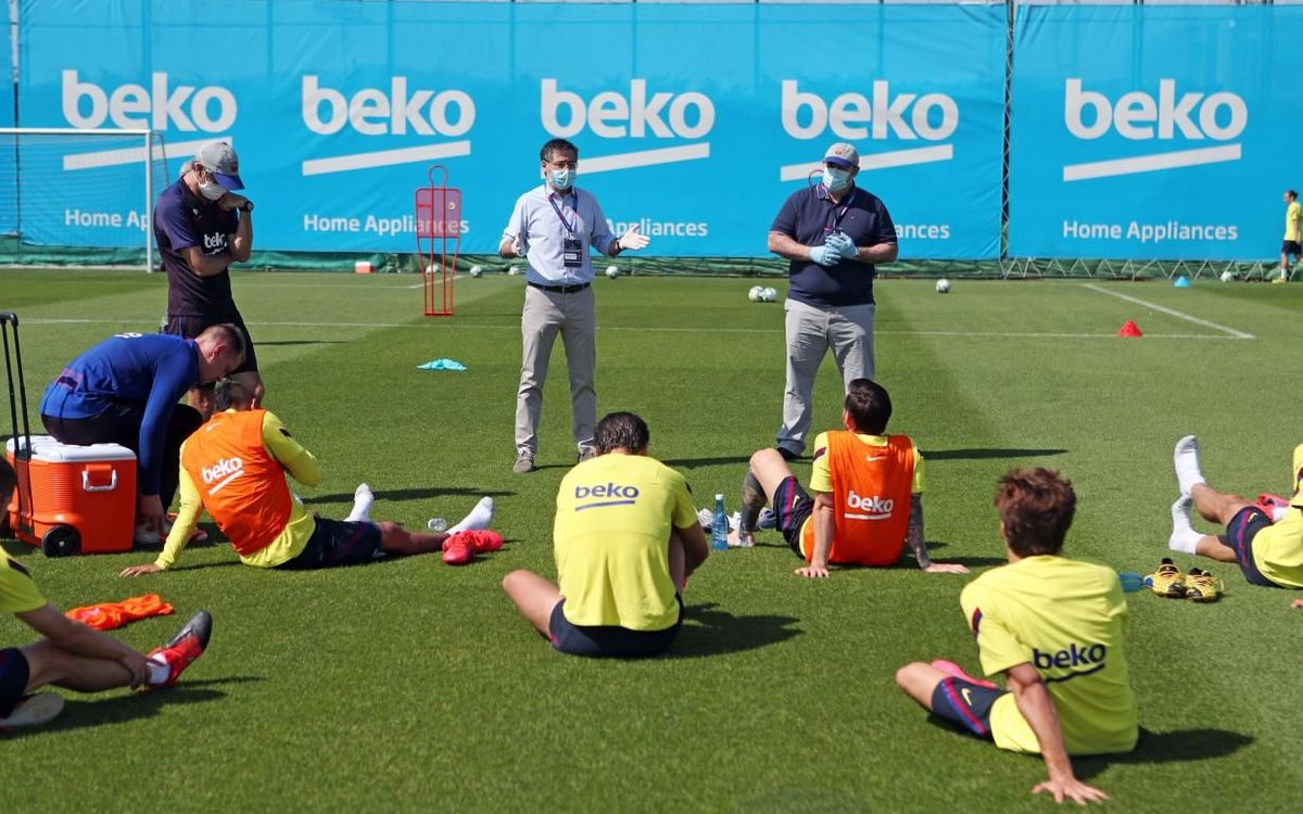 Bartomeu's meeting with the players at the Ciutat Esportiva
