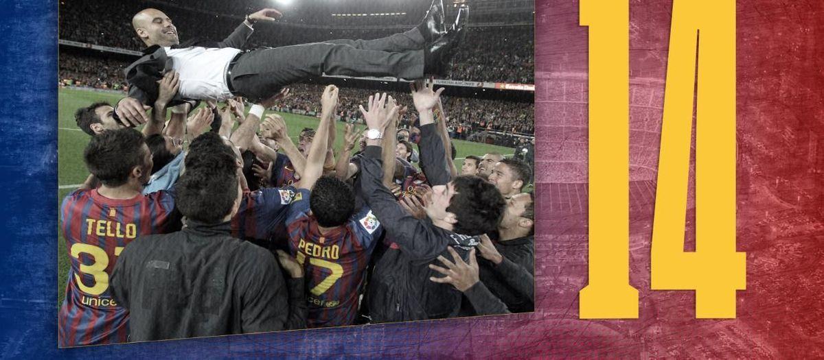 La dada del dia | 14: Els títols que va guanyar Guardiola com a tècnic culer
