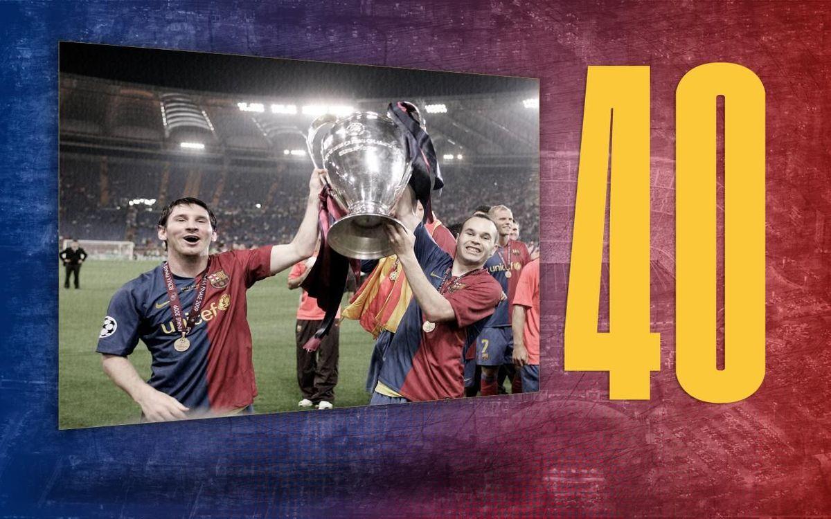 El dato del día | 40: Las Copas de Europa de la historia del Club