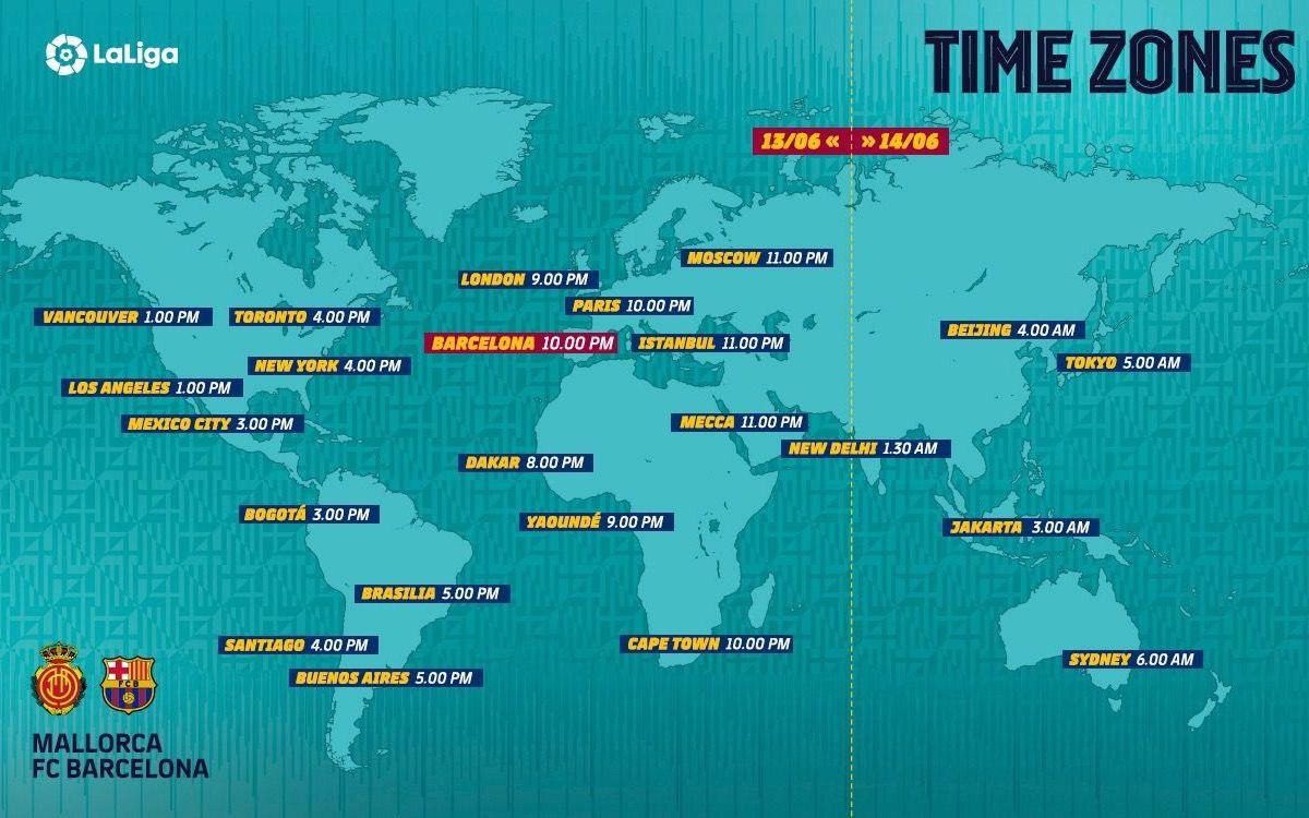 Els horaris internacionals Mallorca-Barça