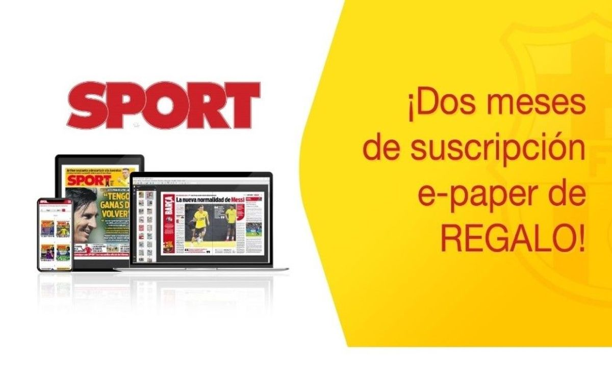 Dos meses de suscripción gratuita e-paper al diario Sport