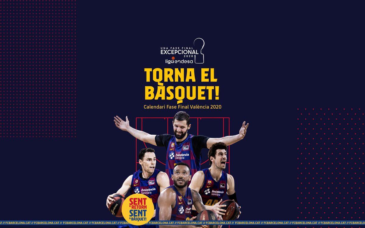 El Barça ya conoce el calendario de la fase final de la Liga Endesa